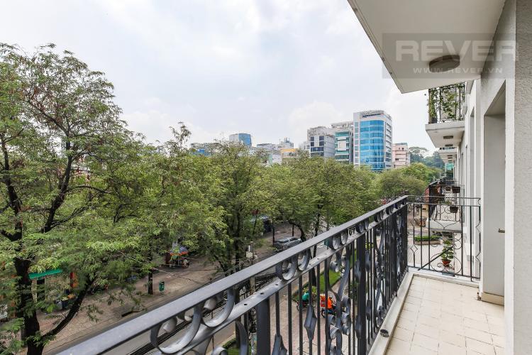 Balcony Căn hộ Saigon Pavillon 1 phòng ngủ tầng thấp nội thất đầy đủ