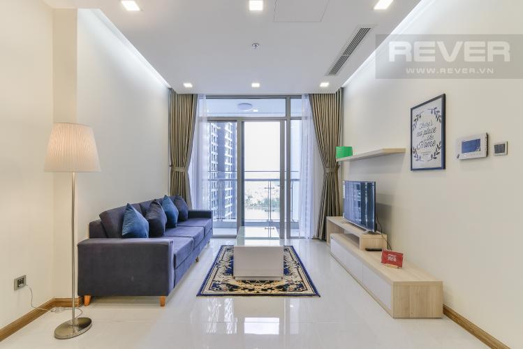 Phòng Khách Căn hộ Vinhomes Central Park 2 phòng ngủ tầng cao P7 view nội khu