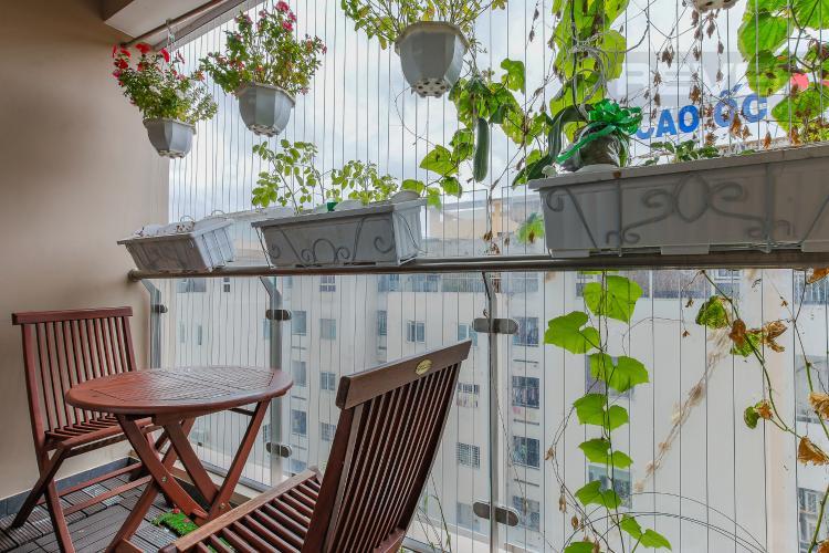 Balcony Căn hộ The Gold View tầng trung tháp A1, 2 phòng ngủ, full nội thất