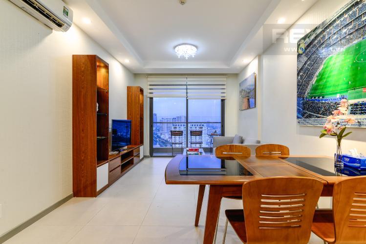 Phòng Khách Cho thuê căn hộ The Gold View tầng cao, view đẹp, 2PN đầy đủ nội thất