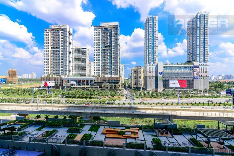 View Cho thuê căn hộ Masteri An Phú 2PN, tầng thấp, tháp B, view Xa lộ Hà Nội