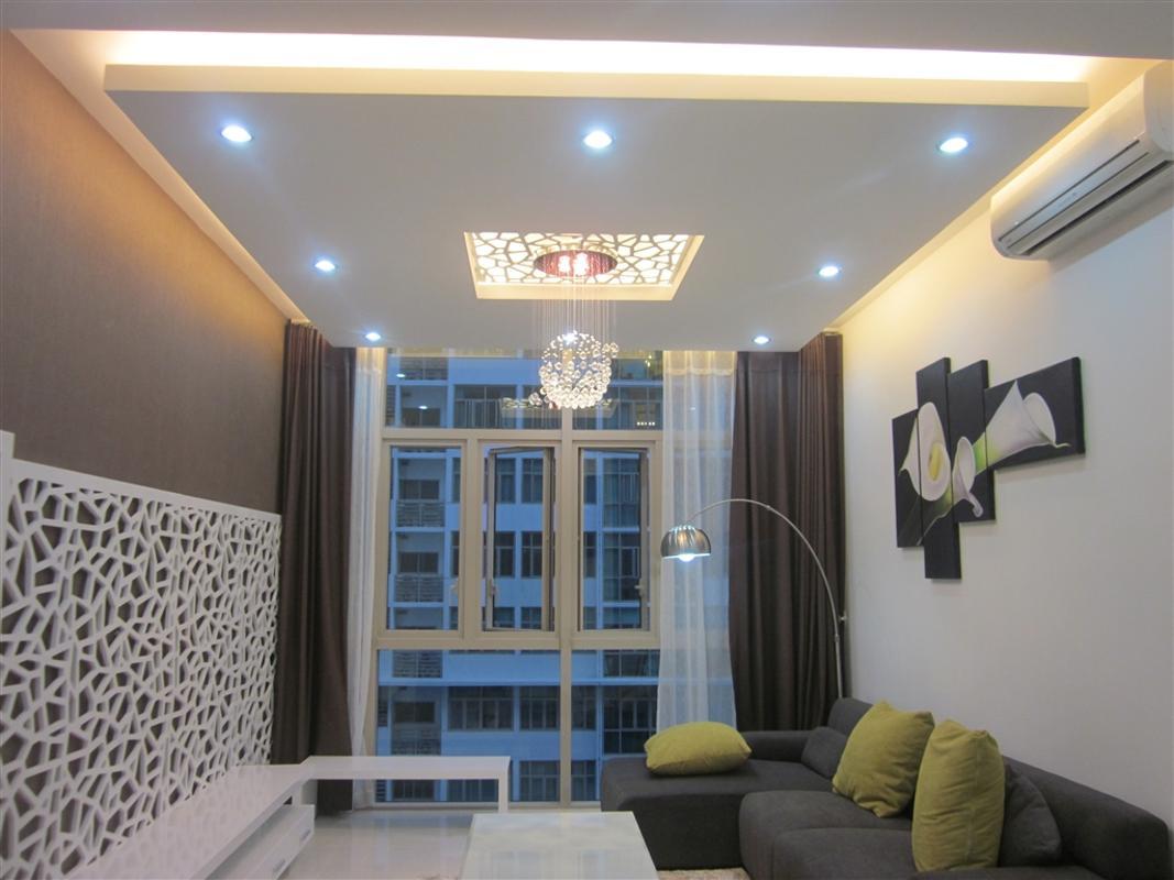 Phòng khách Bán hoặc cho thuê căn hộ The Vista An Phú 2PN, tháp T4, diện tích 101m2, đầy đủ nội thất, hướng Đông Bắc