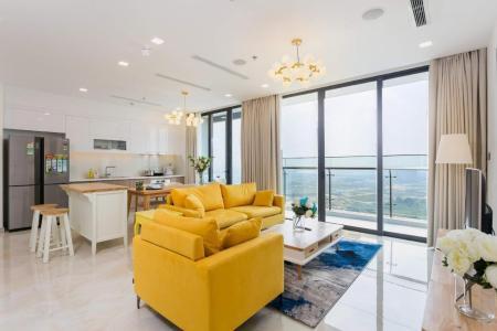 Cho thuê căn hộ Vinhomes Golden River 3PN, diện tích 121m2, đầy đủ nội thất, căn góc view sông và thành phố