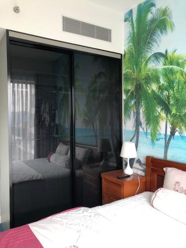 Phòng ngủ Gateway Thảo Điền Quận 2 Căn hộ Gateway Thảo Điền nội thất tiện nghi, view Landmark 81.