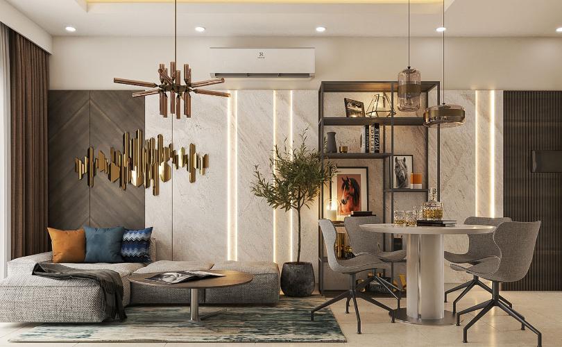 nhà mẫu căn hộ Q7 Boulevard Căn hộ nội thất cơ bản tầng 22 Q7 Boulevard