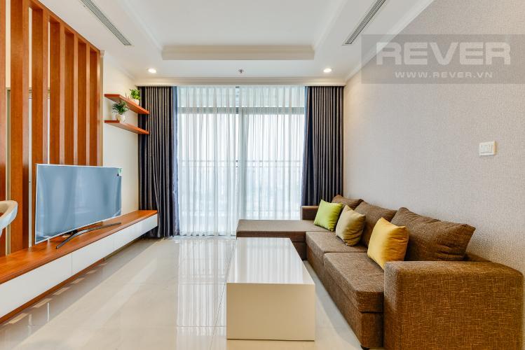 Phòng khách Căn hộ Vinhomes Central Park 3 phòng ngủ tầng trung L4 nội thất đầy đủ