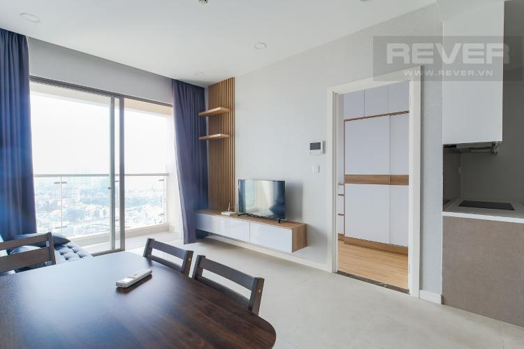 Phòng Khách Căn hộ Masteri Millennium tầng cao, 2PN, đầy đủ nội thất
