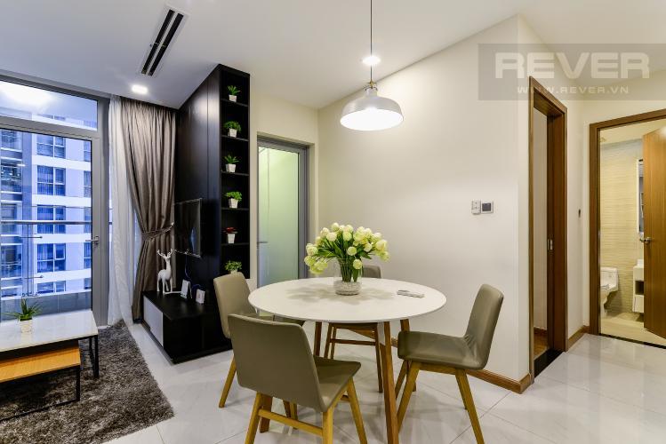 Phòng Ăn Cho thuê căn hộ Vinhomes Central Park tháp Park 1 tầng trung, 2PN đầy đủ nội thất