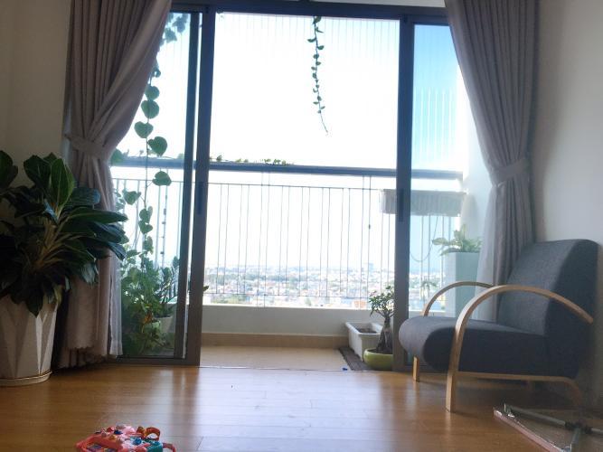 Phòng khách căn hộ Opal Riverside, Thủ Đức Căn hộ chung cư Opal Riverside ban công hướng Tây Bắc, đầy đủ nội thất.