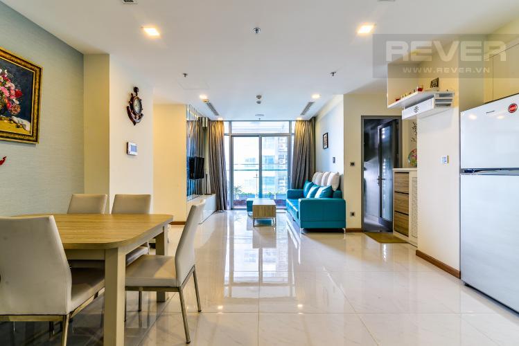 Phòng Khách Căn hộ Vinhomes Central Park 2 phòng ngủ tầng cao P6 đầy đủ tiện nghi