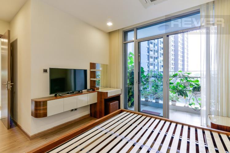 Phòng Ngủ 2 Cho thuê căn hộ Vinhomes Central Park 3PN, tháp Park 7, đầy đủ nội thất, view hồ bơi