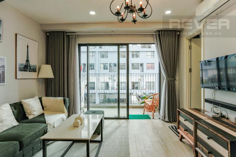 Phòng Khách Căn hộ M-One Nam Sài Gòn tầng thấp tòa T2, 1 phòng ngủ, view sông