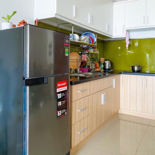 Phòng bếp Carillon 5, Tân Phú Căn hộ Carillon 5 tầng trung, cửa chính hướng Tây Nam.