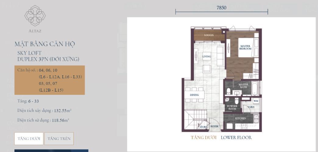 Căn hộ Feliz en Vista tầng 12B nội thất cơ bản