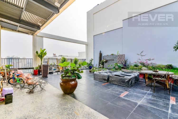 Sân Penthouse Chung cư Bộ Công An 3 phòng ngủ tầng cao nội thất đầy đủ