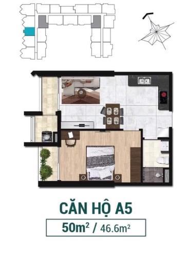 Căn hộ Asiana Capella tầng cao, nội thất cơ bản