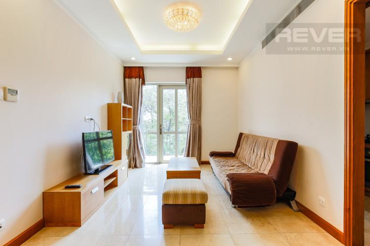Phòng Khách Căn hộ Saigon Pavillon 1 phòng ngủ tầng thấp nội thất đầy đủ