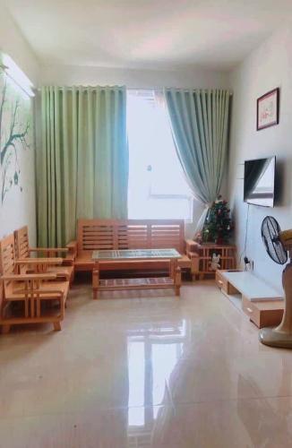 phòng khách căn hộ CBD Premium Home Căn hộ The CBD Premium Home tầng trung, view thành phố.