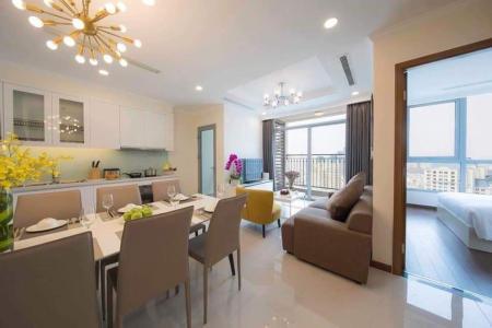 Cho thuê căn hộ Vinhomes Central Park 2PN, tầng cao, đầy đủ nội thất, ban công Tây Nam
