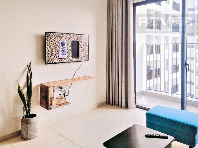 Phòng Khách Cho thuê căn hộ M-One Nam Sài Gòn 2PN, tầng trung, đầy đủ nội thất, view hồ bơi nội khu
