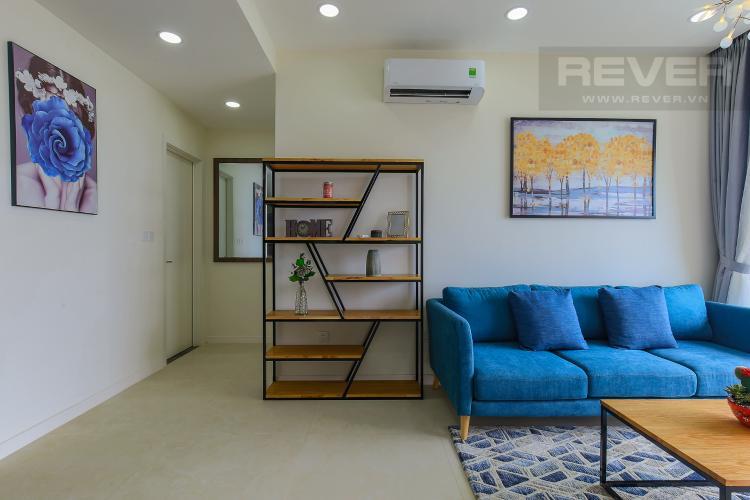 Phòng Khách Cho thuê căn hộ Masteri Millennium tầng cao 2PN đầy đủ nội thất view sông