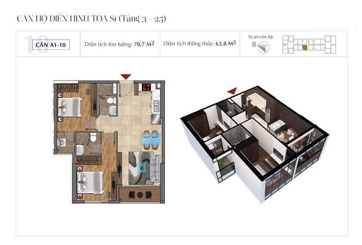 can-ho-A1-10-sunshine-city-sai-gon Bán Officetel Sunshine City Sài Gòn 2 phòng ngủ thuộc tầng cao, diện tích 70m2