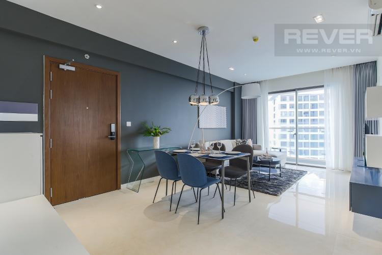 Phòng Khách Căn hộ Masteri Millennium tầng cao view sông, 2PN đầy đủ nội thất