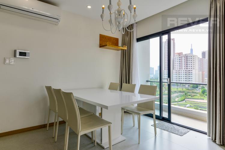 Phòng Ăn Cho thuê căn hộ New City Thủ Thiêm tầng thấp tháp Babylon, 3PN 2WC, đầy đủ nội thất, view cây xanh mát mẻ
