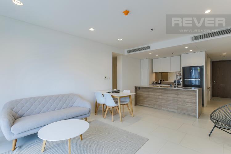 Phòng Khách Cho thuê căn hộ City Garden 1PN, diện tích 67m2, đầy đủ nội thất