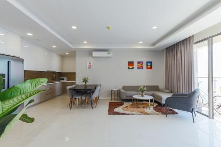 Cho thuê căn hộ Masteri Millennium diện tích 107m2, 3PN 2WC, view thành phố