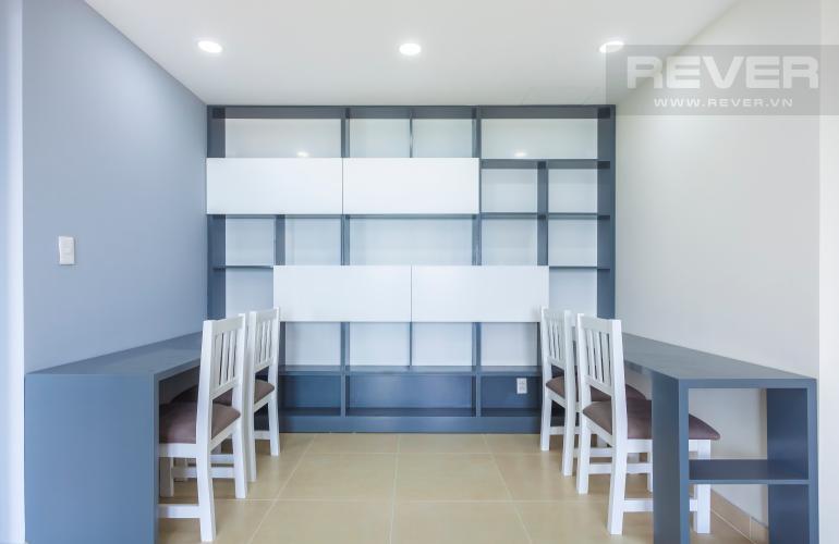 Phòng làm việc Căn hộ Masteri Thảo Điền tầng cao T4B 3 phòng ngủ, nội thất tinh tế