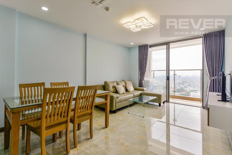 Phòng khách Cho thuê căn hộ Kingston Residence 2 phòng ngủ, quận Phú Nhuận