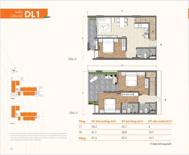 Căn hộ Duplex Ricca 3 phòng ngủ, view ngoại ô thành phố