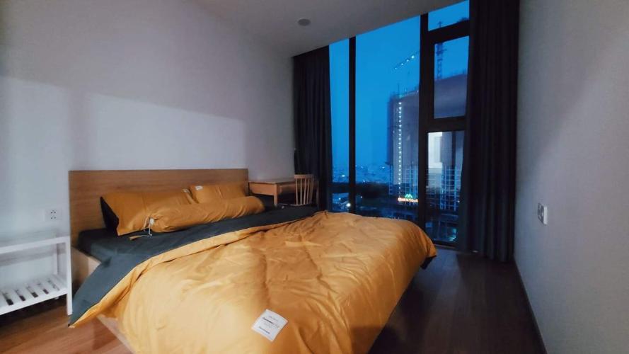 Phòng ngủ Eco Green Saigon Căn hộ Eco Green Saigon tầng trung, view nội khu hồ bơi, 2 phòng ngủ.