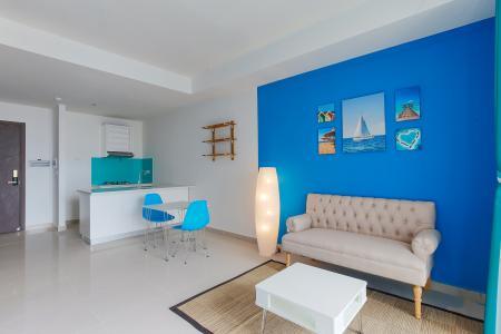 Căn hộ The Tresor tầng cao 2PN đầy đủ nội thất, có ban công