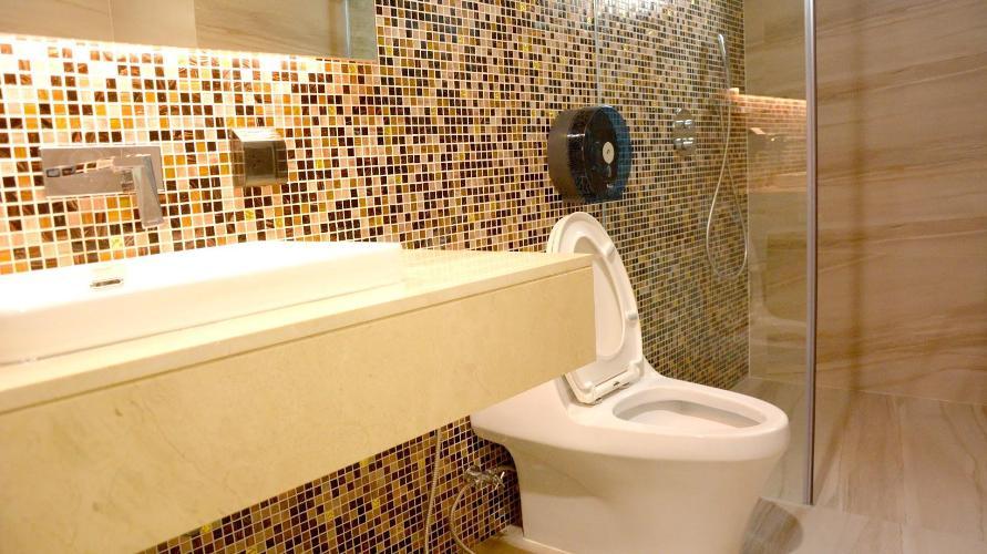 Phòng tắm căn hộ dịch vụ Căn hộ dịch vụ Kim Residence đầy đủ nội thất, view thoáng mát.