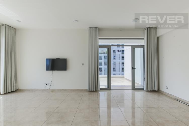 Phòng Khách Bán hoặc cho thuê căn hộ sân vườn Lux Garden 3PN, đầy đủ nội thất, view 2 mặt sông