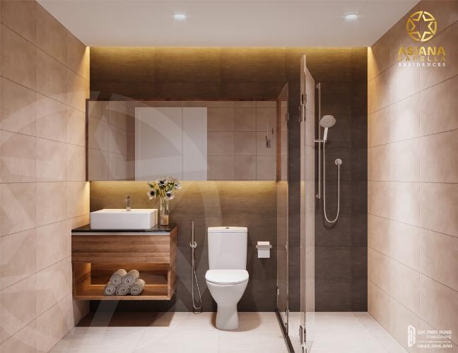 Phòng tắm căn hộ Asiana Capella, Quận 6 Căn hộ Asiana Capella hướng cửa chính Tây Bắc, nội thất cơ bản.