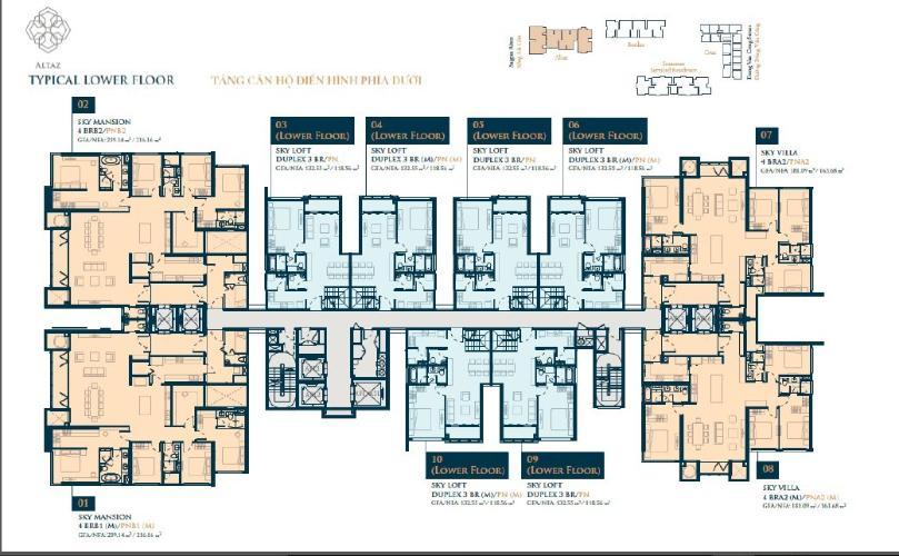 Mặt bằng Dự án Feliz en Vista Căn hộ tầng 12 dự án Feliz en Vista nội thất cơ bản