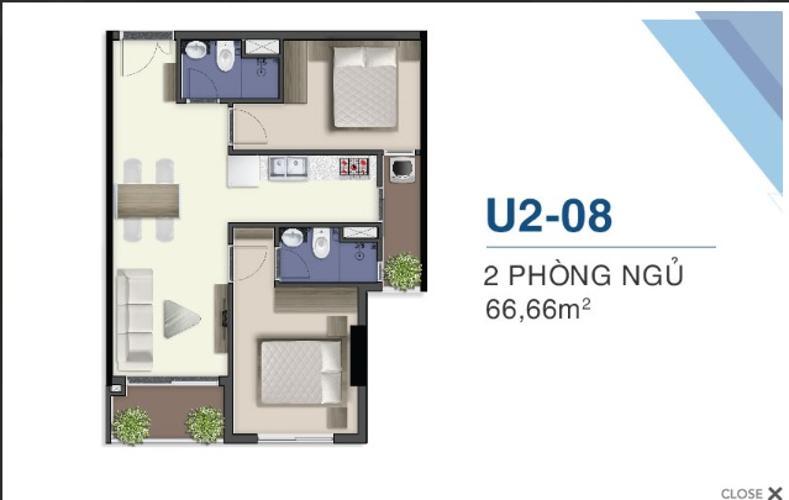 mặt bằng căn hộ q7 saigon riverside Căn hộ Q7 Saigon Riverside nội thất cơ bản, view thoáng mát.