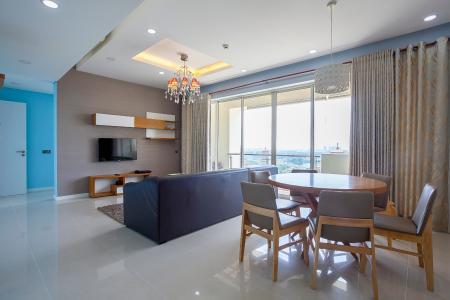 Căn hộ The Estella Residence 3 phòng ngủ tầng trung 4A hướng Nam