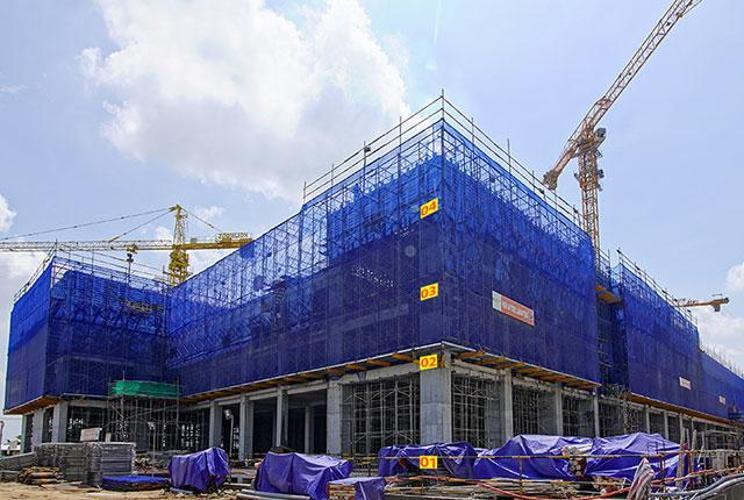 Mặt bằng căn hộ Q7 Saigon Riverside Bán căn hộ Q7 Saigon Riverside tầng trung, diện tích 53.2m2 - 1 phòng ngủ, chưa bàn giao