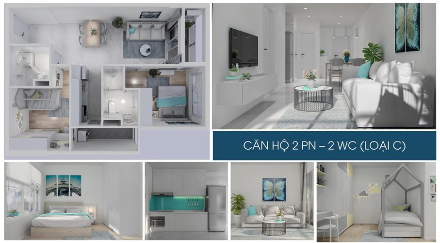 Nhà mẫu căn hộ Charm City , Dĩ An Căn hộ Charm City tầng 17, ban công hướng Bắc.
