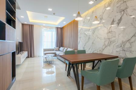 Căn hộ Vista Verde 2 phòng ngủ đầy đủ nội thất tầng cao T2