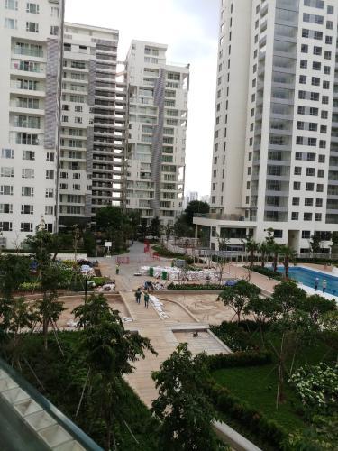 View căn hộ Đảo Kim Cương Căn hộ view nội khu Diamond Island đầy đủ nội thất sang trọng.