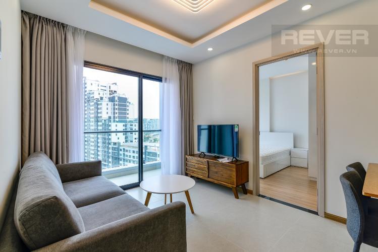 Phòng Khách Cho thuê căn hộ New City Thủ Thiêm 2PN, đầy đủ nội thất, view hồ bơi