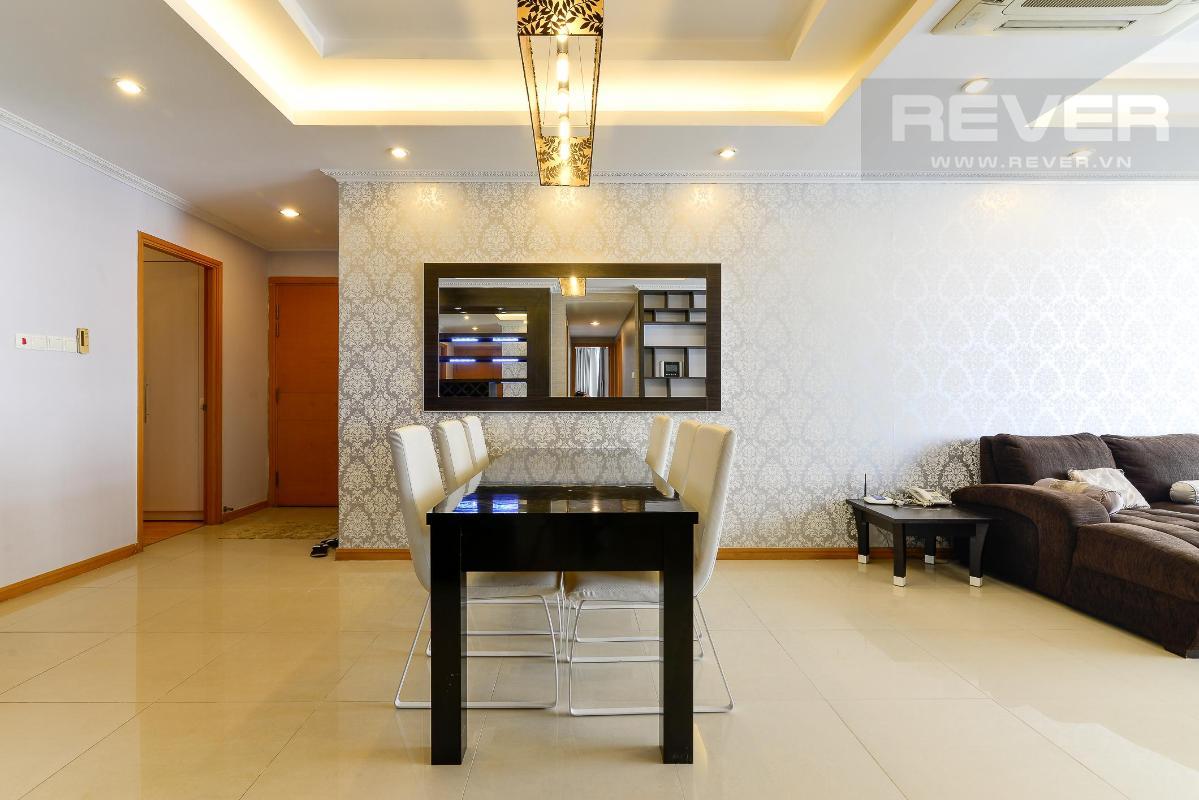 bàn ăn Bán hoặc cho thuê căn hộ Saigon Pearl 3PN, tháp Ruby 1, đầy đủ nội thất, view sông và nội khu