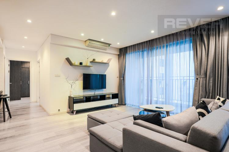 Phòng Khách và Lobby Căn hộ Riviera Point tầng cao 2PN thiết kế đẹp, đầy đủ nội thất