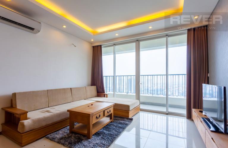 Phòng khách Căn hộ Thảo Điền Pearl tầng cao tháp A ban công rộng, view trực diện sông