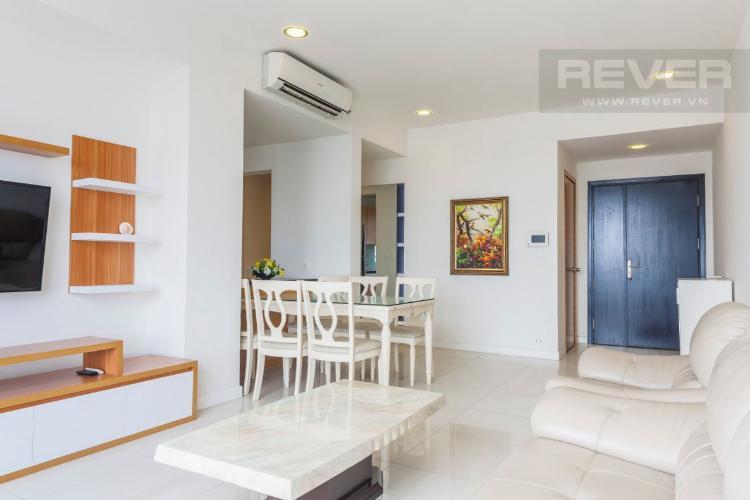 Phòng Khách Căn hộ Sunrise City 2 phòng ngủ tầng trung V5 nội thất đầy đủ